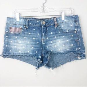 Aeropostale | Stars & Stripes Shorty Denim Shorts